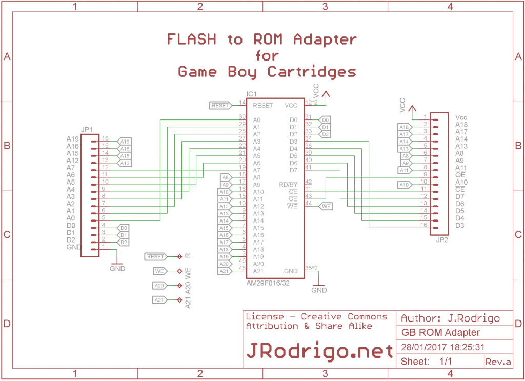How to DIY a Game Boy flash cartridge with a ROM adapter ... Gameboy Advance Wiring Diagram on